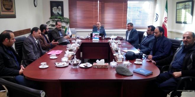دیدار هئیت مدیره کانون انجمن های صنفی کارگران ساختمانی استان گیلان با مدیر کل تأمین اجتماعی استان جناب آقای حق پرست