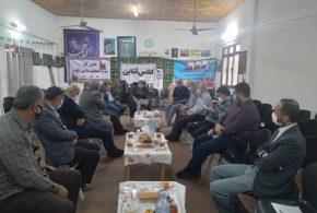 جلسه اعضای هیئت اجرایی خانه کارگر گیلان با حاج آقا صفری رئیس مجمع نمایندگان استان