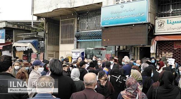 تجمع بازنشستگان کارگری مقابل ساختمان استانداری و کانون بازنشستگان تامین اجتاعی